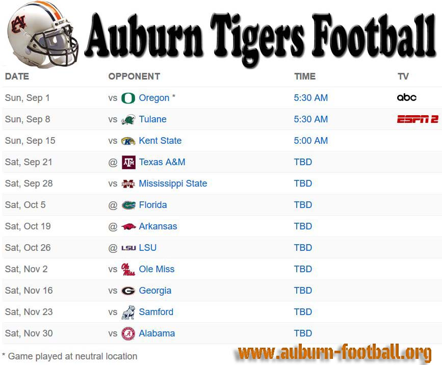 auburn football schedule 2019